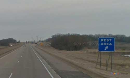 mn interstate 35 minnesota i35 albert leak welcome center marker 1 northbound off ramp exit
