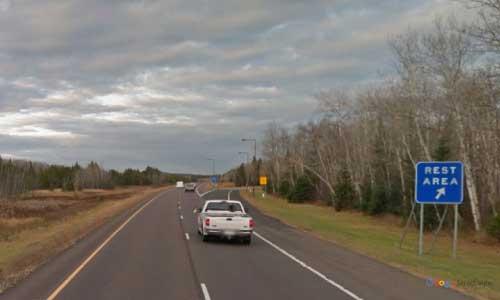 mn interstate 35 minnesota i35 culkin rest area marker 226 northbound off-ramp exit