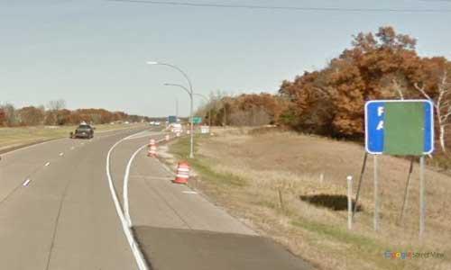 mn interstate 35 minnesota i35 goose creek rest area marker 154 northbound off ramp exit