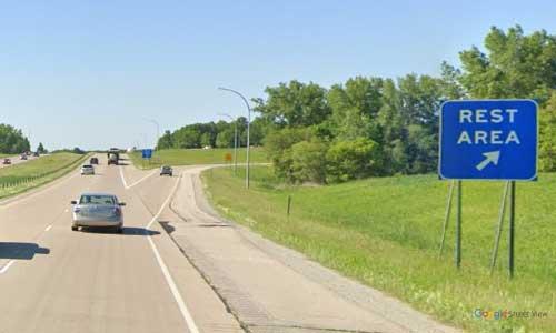 mn interstate 35 minnesota i35 new market rest area marker 75 southbound off ramp exit