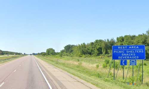 mn interstate 35 minnesota i35 straight river rest-area marker 35 southbound off ramp exit