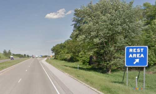 mn interstate 90 minnesota i90 enterprise rest area marker 244 westbound off ramp exit