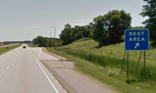 mn interstate 90 minnesota i90 hayward rest area marker 162 eastbound off ramp exit