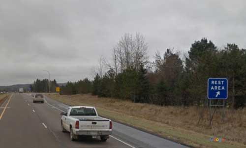 mn interstate 94-minnesota i94 big spunk lake rest area mile marker 152 eastbound off ramp exit