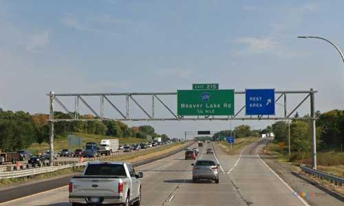 mn interstate 94 minnesota i94 elm creek rest area mile marker 215 eastbound off ramp exit