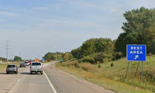 mn interstate 94 minnesota i94 enfield rest area mile marker 187 eastbound off ramp exit