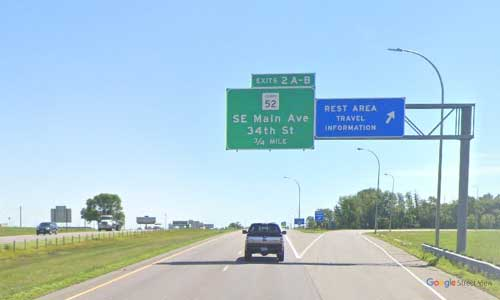 mn interstate 94 minnesota i94 moorhead welcome center marker 2 eastbound off ramp exit